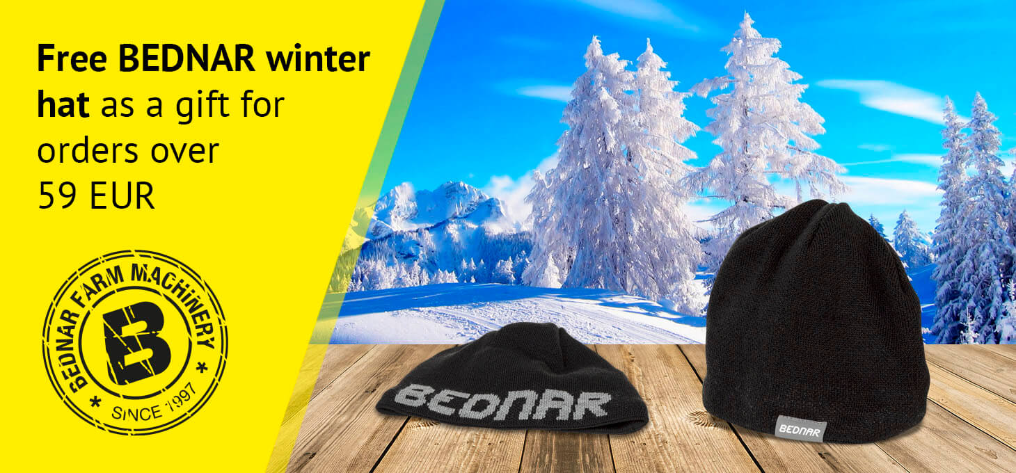 Free BEDNAR winter hat as a gift for orders over CZK 1,500.